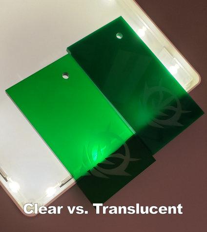 Clear vs Translucent