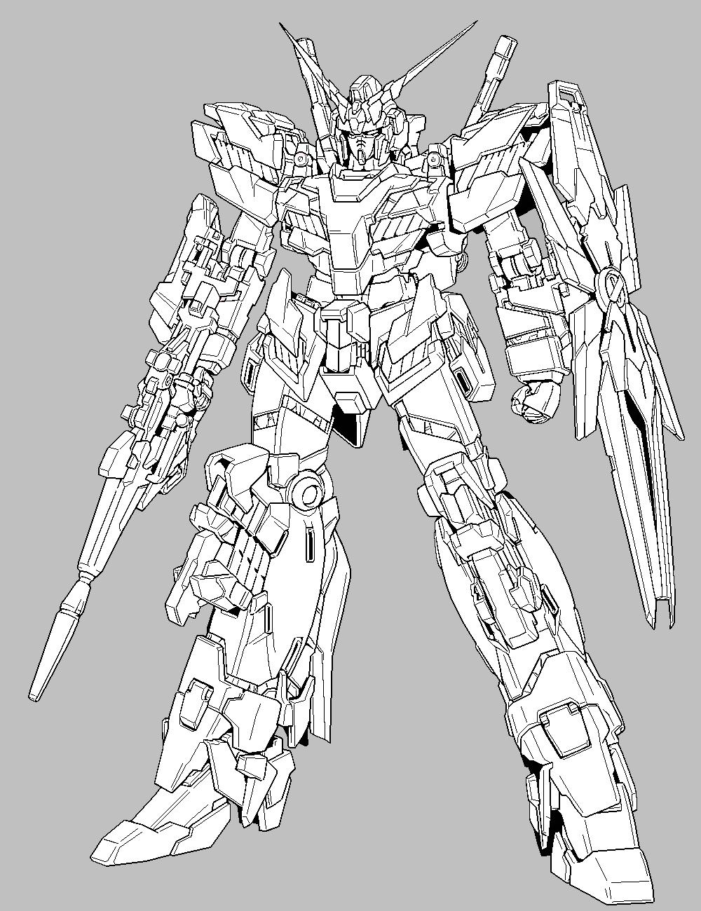 Layman's Gunpla Guide - Gundam Line Art Collection | Otaku ...